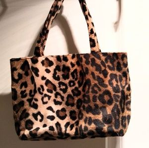 Handbags - Faux Leopard Fur handbag